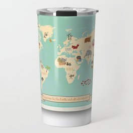 Global Compassion World Map Wall Art on Gallery Wrapped Canvas For Children Travel Mug
