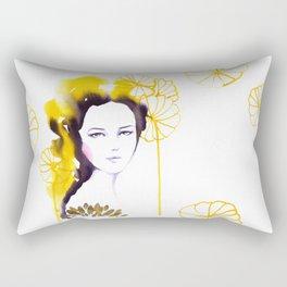 Frida, watercolor Rectangular Pillow
