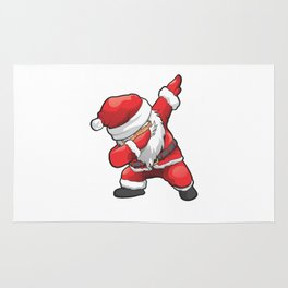 Funny Dabbing Santa Merry Christmas Rug