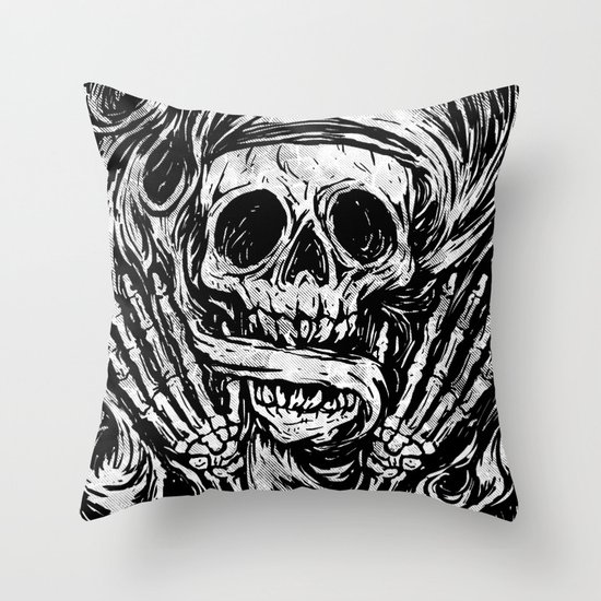 flowing ashes Throw Pillow