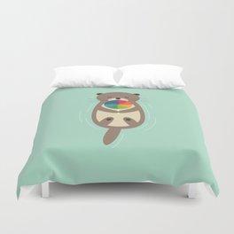 Sweet Otter Duvet Cover