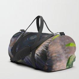 kitty watching, painterly Duffle Bag