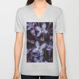 Lilacs close up Unisex V-Neck