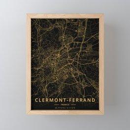 Clermont-Ferrand, France - Gold Framed Mini Art Print