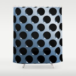 Cool Steel Graphic Art Like Polka Dots Shower Curtain