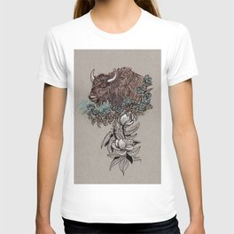 Buffalo Wildflower and Magnolias T-shirt