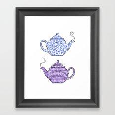 Patterned Teapots Framed Art Print