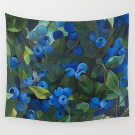 A Blueberry View Wall Tapestry