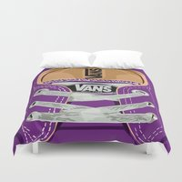 vans Duvet Covers featuring Cute Purple Vans all star baby shoes apple iPhone 4 4s 5 5s 5c, ipod, ipad, pillow case and tshirt by Three Second