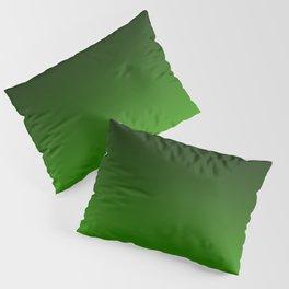 Black and Grass Green Gradient 055 Pillow Sham