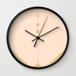 Olive Green and Cream Abstract Wall Clock