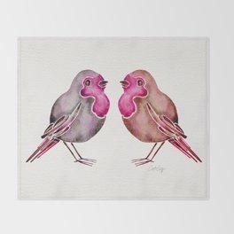 Rosie Birds Throw Blanket