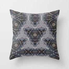 Shibori B W Throw Pillow