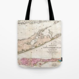 Long and Staten Island Map Tote Bag