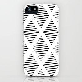 BW Pattern iPhone Case