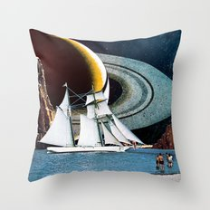 Orbital Sailing Throw Pillow