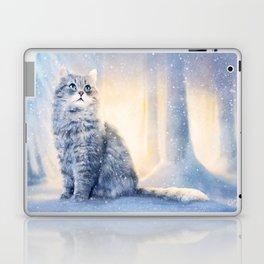 Cat in winter wonderland Laptop & iPad Skin