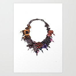 Beaded Necklace Art Print