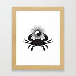 Yin Yang Crab Framed Art Print