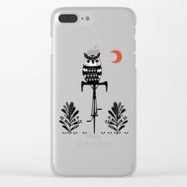 Boho Animals Owl Clear iPhone Case