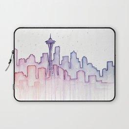 Seattle Skyline Watercolor Laptop Sleeve