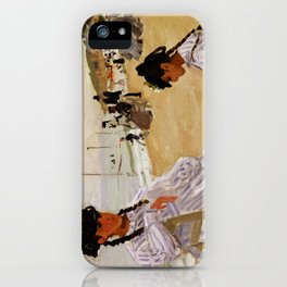 On the Beach at Trouville by Claude Monet iPhone Case