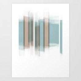 Turquoise blue Retro Style Geometric Abstract - Codex Art Print