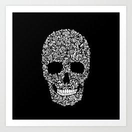 Inverse Skull Art Print
