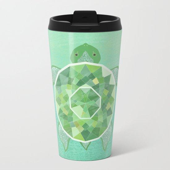 Turtle - Emerald Metal Travel Mug