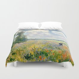 Poppy Fields near Argenteuil by Claude Monet Duvet Cover