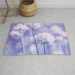 Allium blue macro 038 Rug