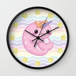 Baby Narwhal! Wall Clock