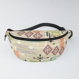 Retro Mid Century Modern Atomic Abstract Pattern 241 Fanny Pack
