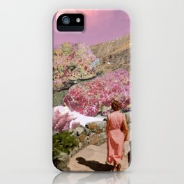 Path to pink moon iPhone Case
