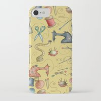 sewing iPhone & iPod Cases featuring Sewing tools by Catru