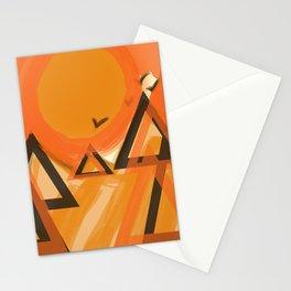 abstrackt landscape Stationery Cards