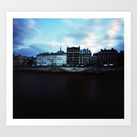 Paris at Dusk: Ile de la Cite Art Print