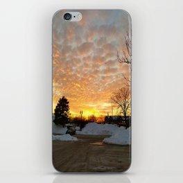 Winter Sunset, Chicago, 2018 iPhone Skin