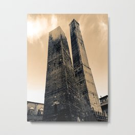 Bologna, Italy Two Towers or Due Torri Metal Print