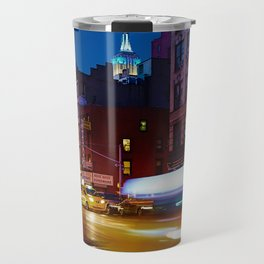 Taxi's Whizzing By Travel Mug