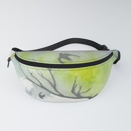 another deer painting Fanny Pack