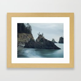 Sunset at Secret Beach Framed Art Print