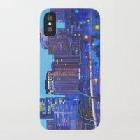 denver iPhone & iPod Cases featuring Denver Skyline by Jeannette Stutzman