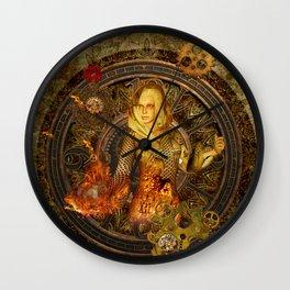 Wonderful steampunk lady Wall Clock