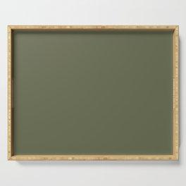 OAKMOSS dark green solid color Serving Tray