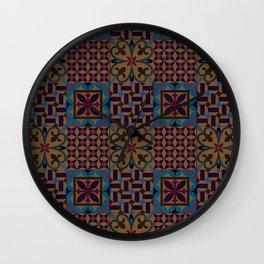 Pranayama Tiles Wall Clock