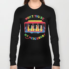 Mister Rogers Neighborhood Trolley Long Sleeve T-shirt
