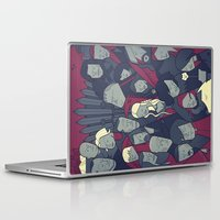 ale giorgini Laptop & iPad Skins featuring Ice and Fire by Ale Giorgini