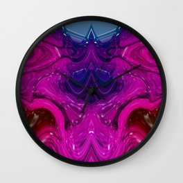 Abstract Digital Design - Purple Wave Wall Clock