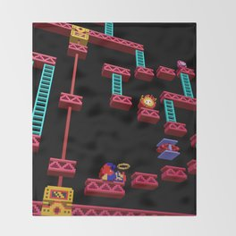 Inside Donkey Kong stage 3 Throw Blanket